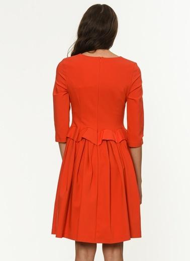 Volanlı Kısa Elbise-Jus De Pommes
